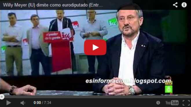 Willy Meyer dimite como eurodiputado (Entrevista en el Intermedio)
