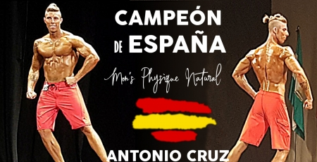 Antonio Cruz Campeón España en Men Physique